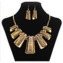 billiga Jewelry Set-Smycken Set geometriska Statement damer Vintage Fest Kontor Ledigt örhängen Smycken Guld Till 1set / Örhängen / Dekorativa Halsband