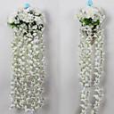 ราคาถูก ของประดับตกแต่งงานแต่งงาน-ดอกไม้ประดิษฐ์ 1 สาขา สไตล์เรียบง่าย ดอกไม้ Hydrangeas ดอกไม้ประดับผนัง
