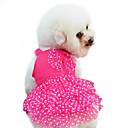 ราคาถูก เสื้อผ้าสำหรับสุนัข-สุนัข ชุดเดรสต่างๆ Dog Clothes สีเหลือง แดง ฟ้า เครื่องแต่งกาย เด็กทารก หมาตัวเล็ก ฝ้าย ลายจุด ประดับโบว์ แฟชั่น XS S M L XL XXL