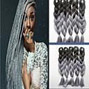 billiga Syntetisk hårförlängning-färg kemiska fiber fläta afrikansk svart peruk färggradient
