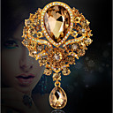 Χαμηλού Κόστους Αξεσουάρ Χορού-Γυναικεία Καρφίτσες Αχλάδι Πασιέντζα κυρίες Πολυτέλεια Πάρτι Γραφείο Μοντέρνα Κρύσταλλο Cubic Zirconia Στρας Καρφίτσα Κοσμήματα Μαύρο Λευκό Βυσσινί Για