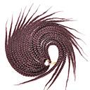 זול צמות שיער-שיער קלוע צמות תיבת אפר קינקי צם 100% שיער קנקלון Kanekalon 20 שורשים / Pack שיער צמות
