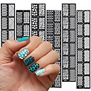 billiga Nail Practice & Display-12 pcs Stämpelplatta Mall Moderiktig design nagel konst manikyr Pedikyr Stilig / Mode Dagligen / stämpling Plate