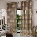 billiga Genomskinliga gardiner-ren gardiner nyanser två paneler / vardagsrum