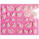 billiga Andra delar-1 pcs 3D Nagelstickers Snör åt klistermärken nagel konst manikyr Pedikyr Abstrakt / Mode Dagligen / Snörklistermärke / 3D Nail Stickers
