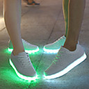ราคาถูก รองเท้าผ้าใบผู้ชาย-สำหรับผู้ชาย รองเท้าสบาย ๆ หนังสัตว์ ฤดูใบไม้ผลิ / ตก การป้องกันการลื่น ขาว / สีดำ / ลูกไม้ขึ้น / รองเท้า Light Up / EU42