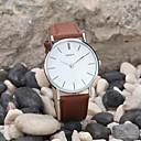 ราคาถูก ตุ้มหู-สำหรับผู้ชาย นาฬิกาข้อมือ นาฬิกาอิเล็กทรอนิกส์ (Quartz) หนัง ดำ / สีขาว / น้ำตาล นาฬิกาใส่ลำลอง ระบบอนาล็อก คลาสสิก ที่เรียบง่าย ดูง่าย - ขาว สีดำ สีน้ำตาล หนึ่งปี อายุการใช้งานแบตเตอรี่
