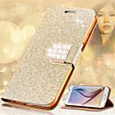 ราคาถูก สร้อยข้อมือ-Case สำหรับ Samsung Galaxy S8 Plus / S8 / S6 edge plus Card Holder / Rhinestone / with Stand ตัวกระเป๋าเต็ม Glitter Shine Hard หนัง PU