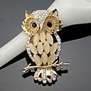 ราคาถูก เข็มกลัด-สำหรับผู้หญิง เข็มกลัด Owl สุภาพสตรี ทำงาน แฟชั่น สไตล์น่ารัก คริสตัล Cubic Zirconia เข็มกลัด เครื่องประดับ สีทอง สำหรับ งานแต่งงาน ปาร์ตี้ โอกาสพิเศษ วันครบรอบ วันเกิด ของขวัญ