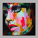 povoljno Apstraktno slikarstvo-Print Stretched Canvas Prints - Ljudi Moderna Umjetničke grafike