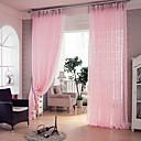 ราคาถูก ม่านปรับแสง-สองช่อง Country / สมัยใหม่ / ดีไซน์เนอร์ สลับ / เส้นโค้ง / Vine สีชมพู Living Room Polyester เฉดสีผ้าม่านเชียร์
