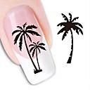 billiga dotting verktyg-1 pcs 3D Nagelstickers Vattenöverföringsklistermärke nagel konst manikyr Pedikyr Vackert Abstrakt / Mode Dagligen / 3D Nail Stickers