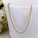 billiga Modehalsband-Dam Kedje Halsband Foxtail kedja damer Dubai 18K Guldpläterad Gult guld Guld Halsband Smycken Till