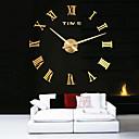 ราคาถูก นาฬิกาติดผนัง-โลหะขนาดใหญ่ไฟฟ้าตกแต่งบ้าน diy รอบนาฬิกาแขวน