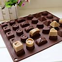 billige Bakeformer-30 hulrom silikon hjerte runde sjokolade mold is kube brett mold
