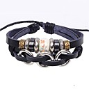 billiga Modeörhängen-Läder Armband damer Unik design Vintage Fest Kontor Porslin Armband Smycken Svart Till Party Gåva Valentine