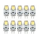 ราคาถูก ไฟ Bi-pin LED-10pcs 1 W หลอดเสียบคู่ LED 100 lm G4 T 1 ลูกปัด LED COB หรี่แสงได้ ขาวนวล ขาวเย็น 12 V / 10 ชิ้น / RoHs