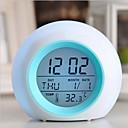 billige Vekkerklokker-digitalt ledet glødende bytte klokkealarmtermometer med naturlyd