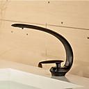 ราคาถูก ก๊อกอ่างล้างหน้าในห้องน้ำ-ก๊อกน้ำอ่างล้างจานห้องน้ำ - น้ำตก ทองแดงขัดน้ำมัน ตัวเจาะนำศูนย์ จับเดี่ยวหนึ่งหลุมBath Taps