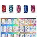 billiga ihåliga klistermärke-1 pcs 3D Akrylform för Naglar Diecut Manicure Stencil nagel konst manikyr Pedikyr Blomma / Mode / Färgglad Dagligen / pvc
