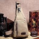Χαμηλού Κόστους Νεσεσέρ καλλυντικών-Γιούνισεξ Καμβάς Sling Τσάντες ώμου Τσάντα από καραβόπανο Μονόχρωμο Καφέ / Πράσινο Χακί / Χακί