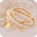 billige Maskaraer-Dame Armringer damer Sjarm Unikt design Vintage Fest Imitert Perle Armbånd Smykker Gull Til Fest Gave Valentine / Strass