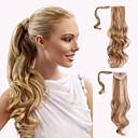 Χαμηλού Κόστους Αλογοουρές-Με Ταινία Κυματιστό Αλογορουρές Κομμάτι μαλλιών Hair Extension #24 #27 #30 Blonde Ουράνιο Τόξο