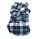 billiga Hundkläder-Hund T-shirt Hundkläder Grön Röd Blå Kostym Terylen Pläd / Rutig Ledigt / vardag Mode S M L XL
