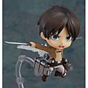 billiga Animefigurer-Anime Actionfigurer Inspirerad av Attack on Titan Eren Jager pvc 10 cm CM Modell Leksaker Dockleksak Pojkar Flickor