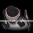 povoljno Komplet nakita-Žene Biseri Sintetički dijamant Komplet nakita dame Luksuz 18K pozlaćeni Biseri Pozlaćeni Naušnice Jewelry Obala Za Vjenčanje Party / Imitacija dijamanta