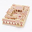 ราคาถูก จิ๊กซอว์3D-จิ๊กซอว์ 3D-puslespill / ปริศนาไม้ การก่อสร้างตึก ของเล่น DIY สถาปัตยกรรมแบบจีน ไม้ ทอง รุ่นและอาคารของเล่น