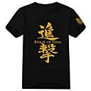 billiga Anime-huvtröjor och sweatshirts-Inspirerad av Attack on Titan Eren Jager Animé Cosplay-kostymer Japanska Cosplay T-shirt Tryck Kortärmad T-shirt Till Herr / Dam