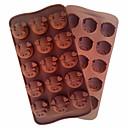 Χαμηλού Κόστους Είδη Ψησίματος-χοντρό κεφάλι κέικ εργαλείο μούχλα κέικ ευέλικτη μούχλα σιλικόνης για το γλυκό σοκολάτας καραμέλα