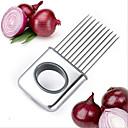 billiga Frukt och grönsakstillbehör-rostfritt stål lökskivare grönsaker verktyg tomatskär kött hamstring gaffel
