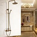 ราคาถูก เชิงเทียนติดผนัง-ก๊อกน้ำฝักบัว - ของโบราณ ทองเหลือง ติดผนัง Ceramic Valve Bath Shower Mixer Taps / Brass / สองมือจับสองหลุม