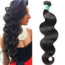 זול תוספות משיער אנושי-1 עניץ שיער ברזיאלי Body Wave שיער בתולי טווה שיער אדם 12-30 אִינְטשׁ שוזרת שיער אנושי 4 א תוספות שיער אדם / 10A