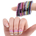 billige Negleklistremerker-30 pcs Nail Foil Striping Tape Neglekunst Manikyr pedikyr Punk / Mote Daglig / Folie Stripping Tape