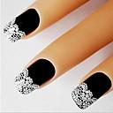 billiga folie Papper-1 pcs Franska design tips 3D Nagelstickers Snör åt klistermärken nagel konst manikyr Pedikyr Abstrakt / Mode Dagligen / Franska tipsguide / Snörklistermärke / 3D Nail Stickers