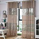 ราคาถูก ม่านปรับแสง-ออกแบบเอง เฉดสีผ้าม่านเชียร์ สองช่อง 2*(W145cm×L244cm) / Living Room