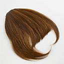billiga Hästsvansar-Svart Mellanbrun Lugg Frans 0.25kg Äkta hår Hårstycke HÅRFÖRLÄNGNING