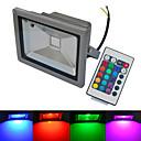 baratos Focos-1pç 20 W 6000-6500/3000-3200 lm 1 Contas LED COB Impermeável Controle Remoto Branco Quente Branco Frio RGB 85-265 V