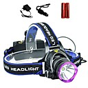 povoljno Baterijske svjetiljke-LS1792 Svjetiljke za glavu Svjetlo za bicikle Taktički Vodootporno 2000 lm LED Cree® XM-L T6 1 emiteri 3 rasvjeta mode s baterijama i punjačima Taktički Vodootporno Zoomable Može se puniti Podesivi