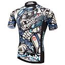 ราคาถูก เสื้อปั่นจักรยาน-XINTOWN สำหรับผู้ชาย แขนสั้น Cycling Jersey นกอินทรีย์ จักรยาน เสื้อยืด Tops ขี่จักรยานปีนเขา Road Cycling ระบายอากาศ แห้งเร็ว Ultraviolet Resistant กีฬา Elastane Terylene ไลคร่า เสื้อผ้าถัก