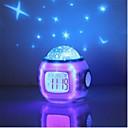 baratos Projetor de Luz-música estrela céu estrelado digital led projeção projetor despertador calendário