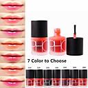 Χαμηλού Κόστους lip gloss-1 pcs 7 χρώματα Machiaj Zilnic Υγρό Κοκκινίζω Κραγιόν Ξηρό / Υγρό / Ματ Αδιάβροχη / Αναπνέει / Γρήγορο Στέγνωμα Μακιγιάζ Καλλυντικό Είδη καλωπισμού
