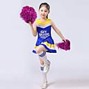 Χαμηλού Κόστους Παιδικά Ρούχα Χορού-Στολές για Μαζορέτες Σύνολα Επίδοση Πολυεστέρας Βολάν Αμάνικο Ψηλό Κορυφή / Φούστα