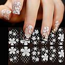 povoljno 3D naljepnica-16 pcs 3D Nail Naljepnice Naljepnice za čipke nail art Manikura Pedikura Cvijet / Moda Dnevno / PVC