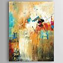 billiga Abstrakta målningar-Hang målad oljemålning HANDMÅLAD - Abstrakt Moderna Inkludera innerram / Valsad duk / Sträckt kanfas