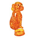 billiga 3D-pussel-Pussel 3D pussel / kristall pussel Byggblock DIY leksaker Dog ABS Gul Modell- och byggleksak