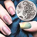 billiga Nail Practice & Display-1 pcs Stämpelplatta Mall Moderiktig design nagel konst manikyr Pedikyr Stilig / Mode Dagligen / stämpling Plate / Metall